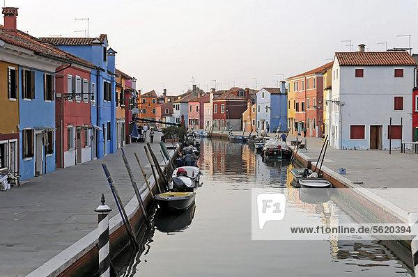 Europa Venetien Burano Italien
