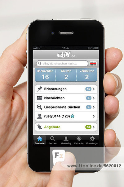 Iphone  Smartphone  App auf dem Display  eBay