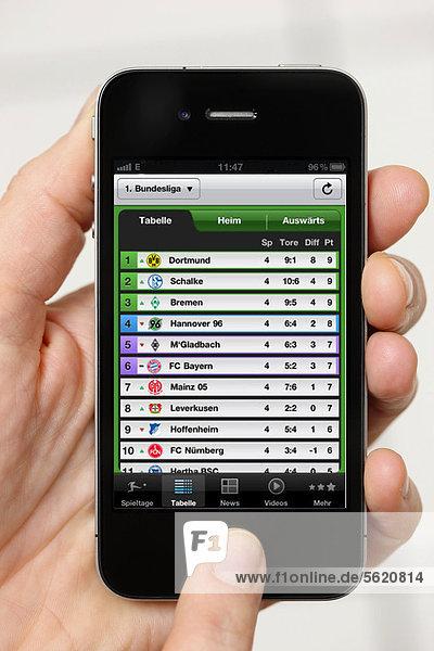 zeigen Ergebnis Iphone app deutsch Information Smartphone Sport
