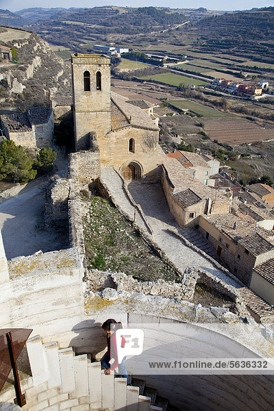 Village of Guimera  Lleida  Catalonia  Spain  Europe