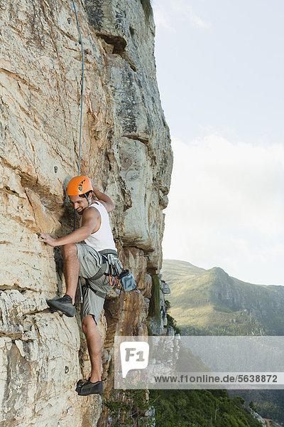 Felsbrocken  Klettern  steil