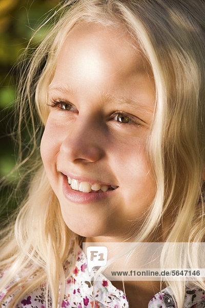 Blondes mädchen porträt nahaufnahme stock fotografie