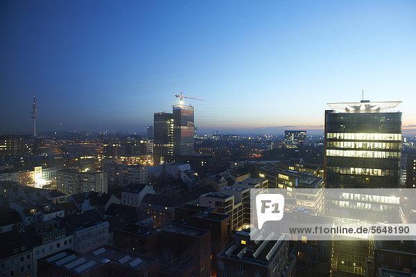 Europa Morgendämmerung Ansicht Hamburg - Deutschland Deutschland