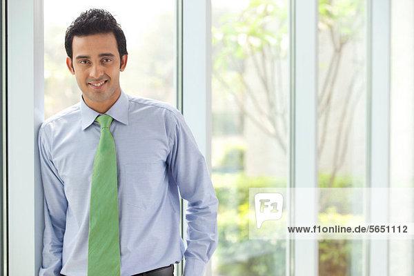 Porträt einer Führungskraft lächelnd