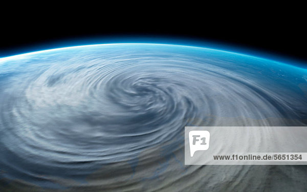 Hurrikan auf dem Planeten Erde