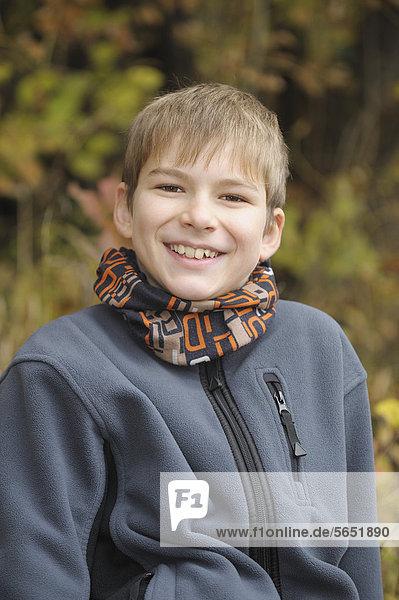 Boy smiling  portrait