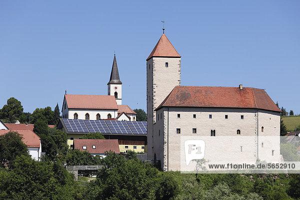 Deutschland  Bayern  Trausnitz  Blick auf Schloss Trausnitz
