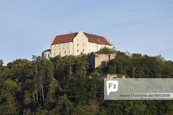 Deutschland  Bayern  Niederbayern  Blick auf Schloss Rosenburg