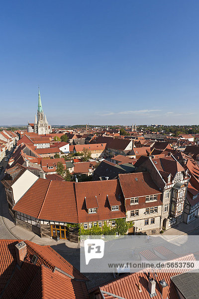 Germany  Thuringia  Muhlhausen  View of city