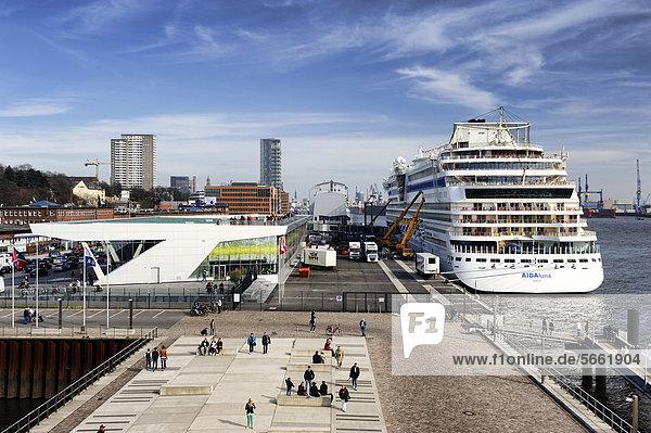 Cruise Centre Altona cruise terminal in Hamburg  Germany  Europe
