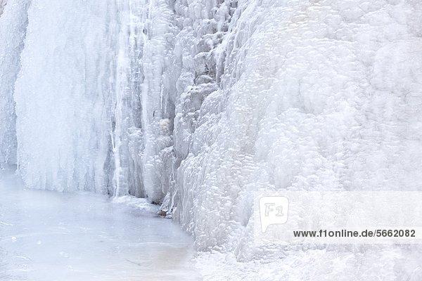 Glasenbachklamm im Winter  Salzburger Land  Österreich  Europa