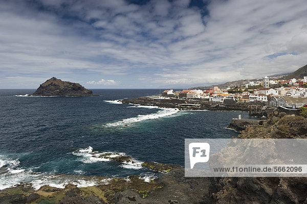 Blick auf Garachico  Teneriffa  Kanarische Inseln  Spanien  Europa