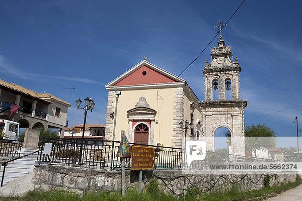Kirche im Dorf Ipapantis  Zakynthos  Griechenland  Europa