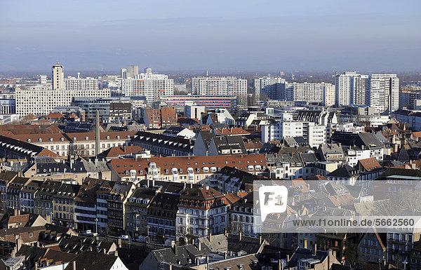 View of the Esplanade development area  Strasbourg  Bas-Rhin dÈpartement  Alsace  France  Europe  PublicGround