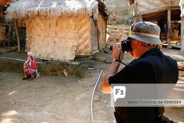 Fotografie  nehmen  Dorf  3  sprechen  Ethnisches Erscheinungsbild  Lifestyle  Mädchen  Mitglied  Thailand