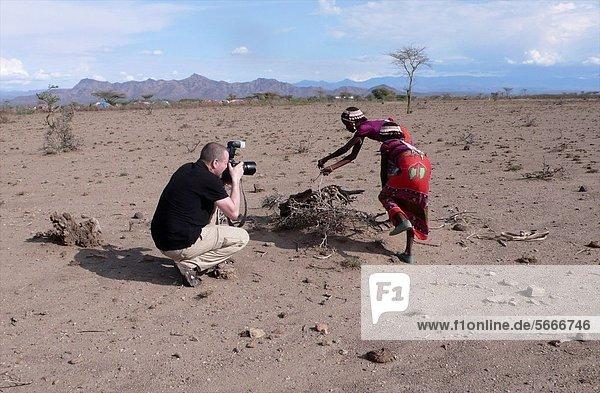 Ton Koene photographer at work in Ethiopia