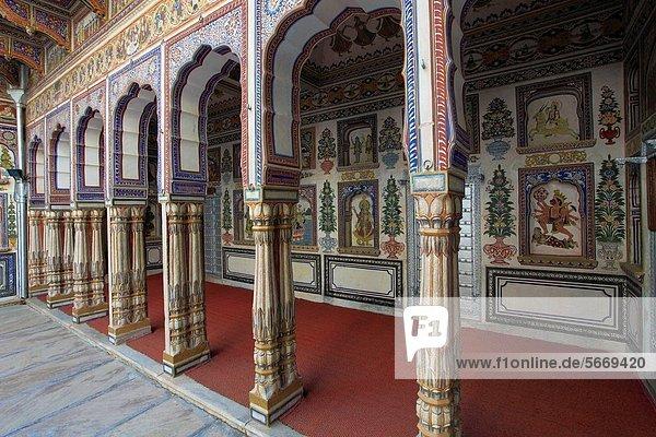 Innenhof Hof Indien Rajasthan