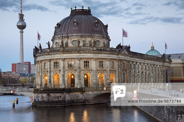 Bode Museum and Fernsehturm TV tower  Berlin  Germany  Europe
