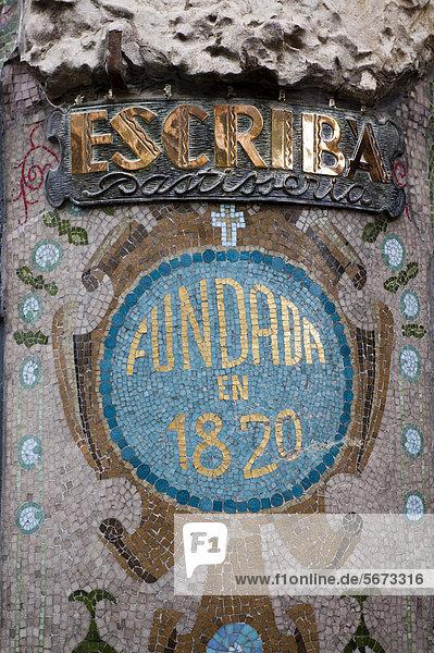 Schild  Patisserie Escriba  La Rambla  Barcelona  Spanien  Europa