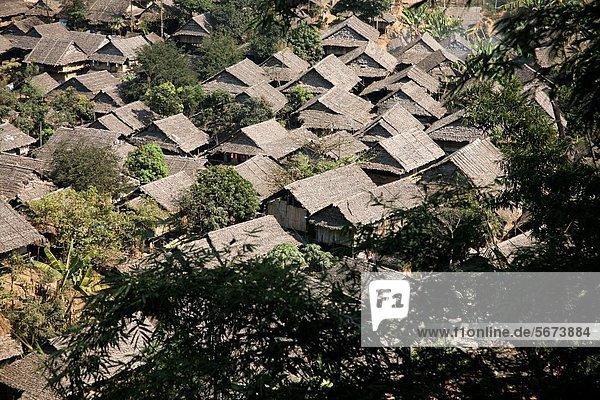 camping Ansicht Hilfe Uneigennützigkeit Lifestyle Siedlung Myanmar Luftbild 30 Fernsehantenne bevölkert Flüchtling Thailand