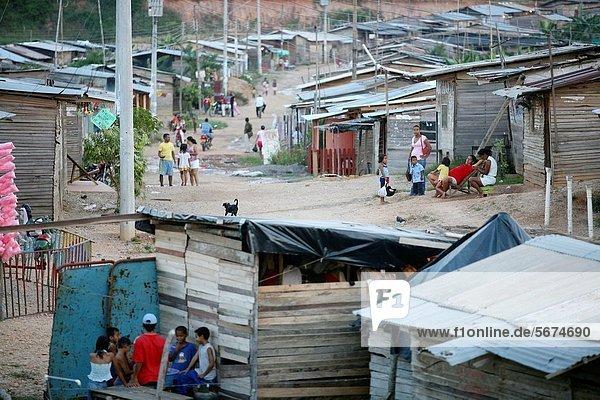 Slum area in Barrancabermeja