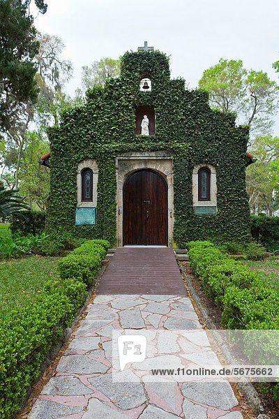 Shrine of our Lady of La Fleche church in St Augustine  Florida  USA  America