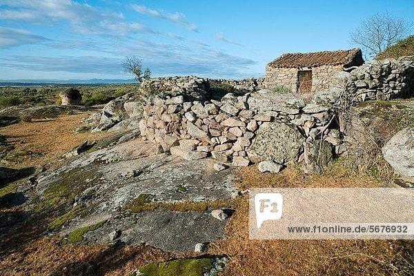 Dorf Kultur Bien Extremadura Spanien