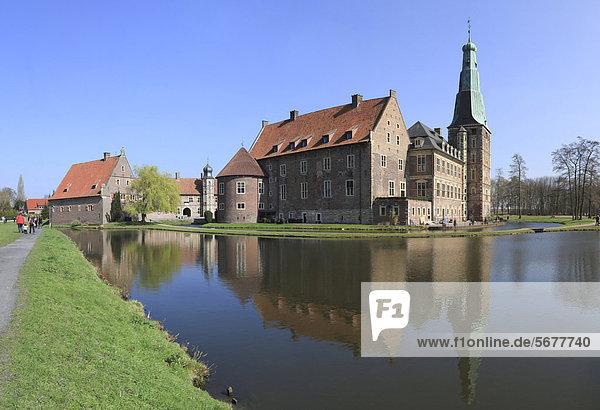 Wasserschloß Raesfeld  Münsterland  Nordrhein-Westfalen  Deutschland  Europa