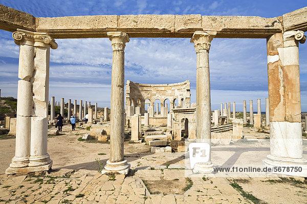 Punischer Markt  Leptis Magna  Libyen  Nordafrika  Afrika Punischer Markt, Leptis Magna, Libyen, Nordafrika, Afrika