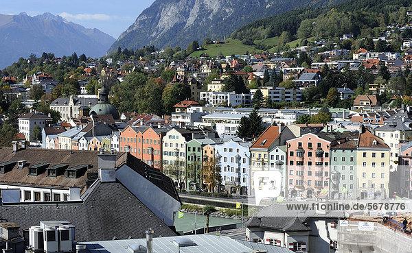 Europa Ansicht Österreich Ortsteil Innsbruck Mariahilf Tirol