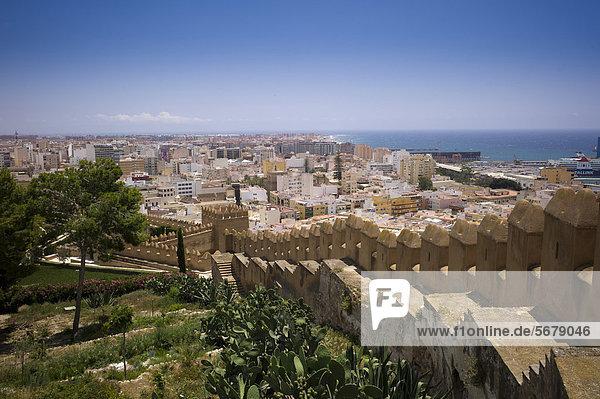 Fortress of Alcazaba  Almeria  Andalusia  Spain  Europe