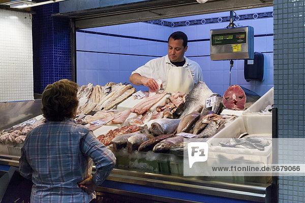 Fischmarkt in der Altstadt Las Palmas  Las Palmas de Gran Canaria  Gran Canaria  Kanarische Inseln  Spanien  Europa