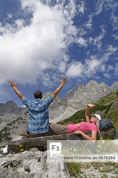nahe  Europa  Berg  nehmen  Lodge  Landhaus  wandern  Österreich  Pause  Tirol
