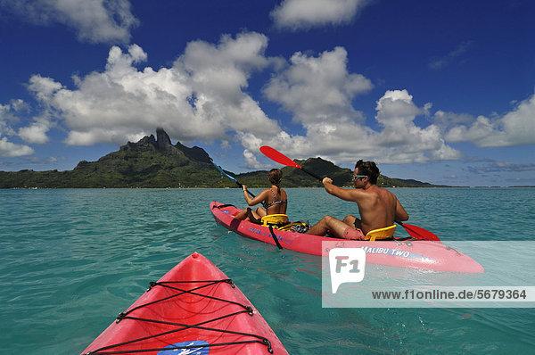 Bora Bora Französisch-Polynesien Leeward Islands Pazifischer Ozean Pazifik Stiller Ozean Großer Ozean Gesellschaftsinseln