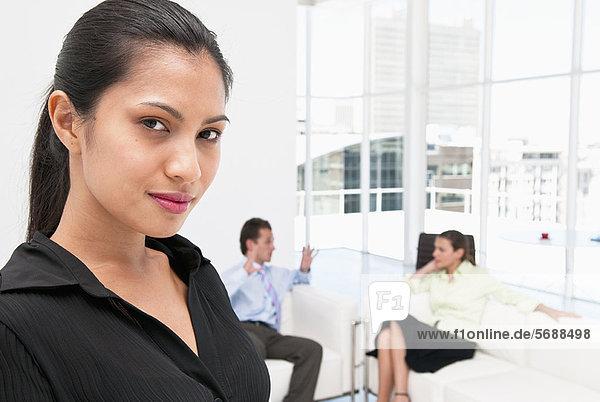 Nahaufnahme des Gesichtes von Geschäftsfrauen