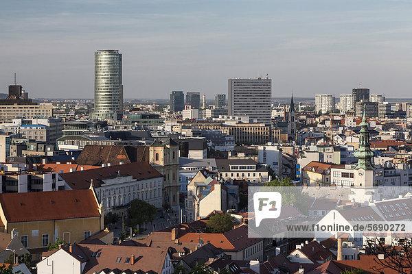 Overlooking the Old Town of Bratislava  Slovak Republic  Europe