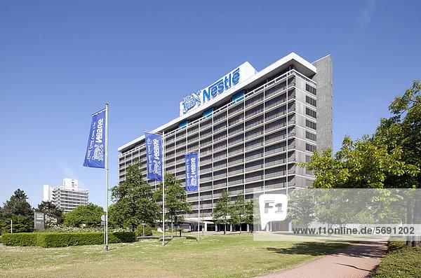 Bürogebäude NestlÈ-Hochhaus  Bürostadt Niederrad  Frankfurt am Main  Hessen  Deutschland  Europa  ÖffentlicherGrund