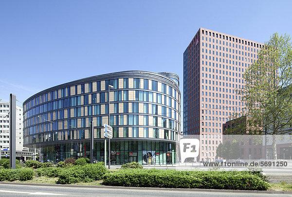 Bürogebäude Oval  Frankfurt am Main  Hessen  Deutschland  Europa  ÖffentlicherGrund