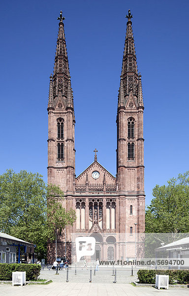 Kirche St. Bonifatius  Luisenplatz  Wiesbaden  Hessen  Deutschland  Europa  ÖffentlicherGrund Kirche St. Bonifatius, Luisenplatz, Wiesbaden, Hessen, Deutschland, Europa, ÖffentlicherGrund