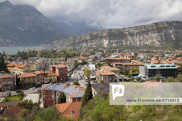 Europa Stadt See Ansicht Trentino Südtirol Italien Torbole Trentino-Südtirol