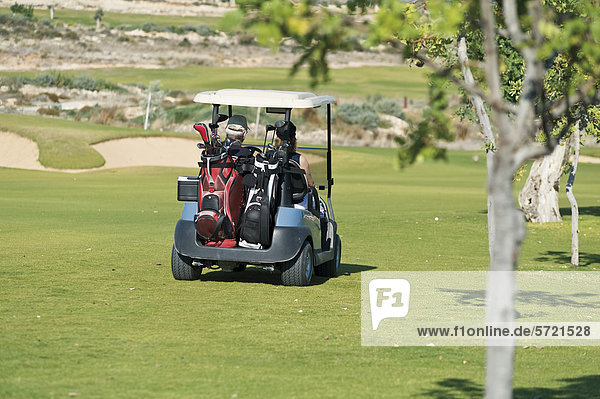 Zypern  Mann und Frau sitzen im Golfwagen