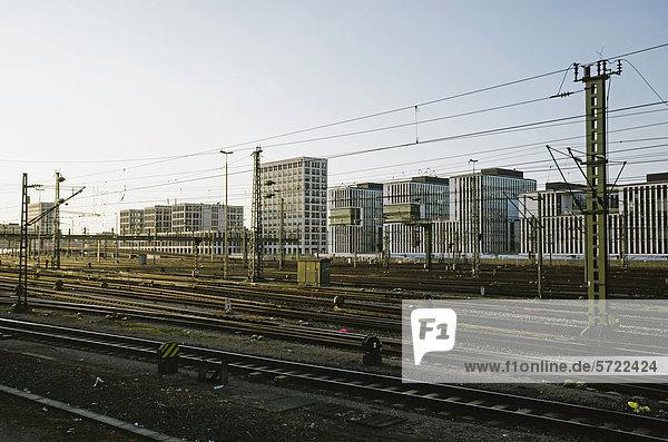 Deutschland  Bayern  München  Anschlussgleise beim Hauptbahnhof