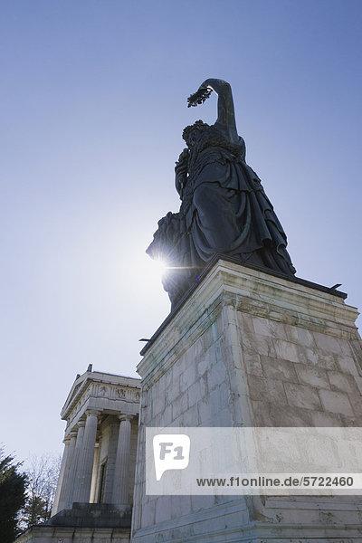 Deutschland  Bayern  München  Ansicht der Bavaria Statue