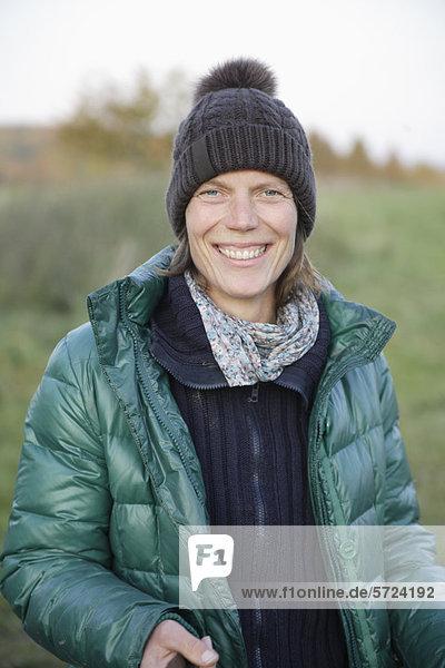 Mature woman smiling  portrait