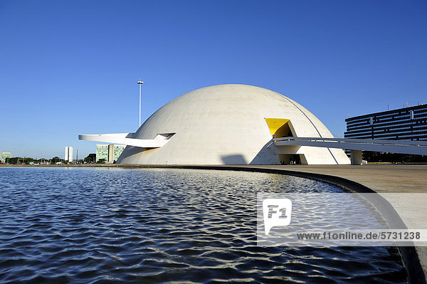National Museum Museu Nacional Honestino Guimaraes  architect Oscar Niemeyer  Brasilia  Distrito Federal DF  Brazil  South America