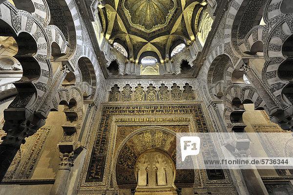 Decke  Deckengewölbe  Mezquita  ehemalige Moschee  heute Kathedrale  Cordoba  Andalusien  Spanien  Europa
