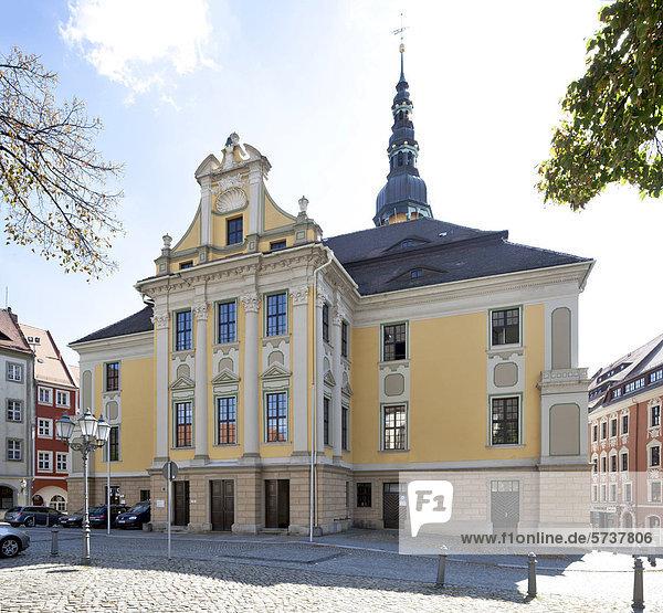 Rathaus am Hauptmarkt  Bautzen  Budysin  Lausitz  Oberlausitz  Sachsen  Deutschland  Europa  ÖffentlicherGrund