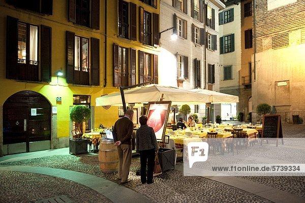 Italien  Lombardei  Mailand  Brera bei Nacht