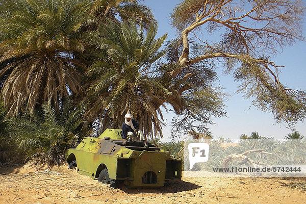 Alten Tank  Mourdi-Gebiet  Tschad