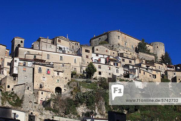 Mittelalter Dorf Kampanien Italien